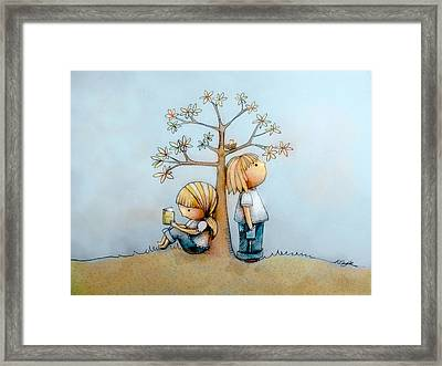 Stop And Smell The Flowers  Framed Print by Karin Taylor