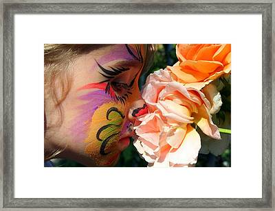 Framed Print featuring the photograph Stop And Smell The Roses by Debra Kaye McKrill