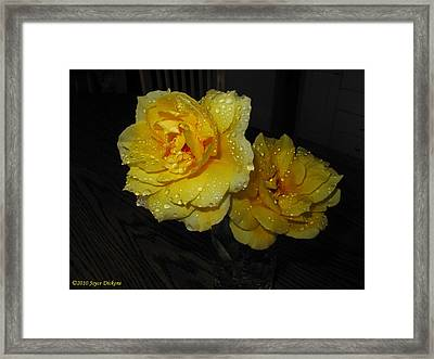 Stop And Smell The Roses Framed Print by Joyce Dickens