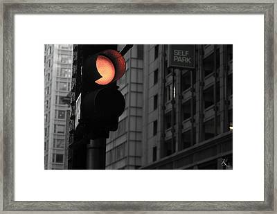 Stop And Think Framed Print