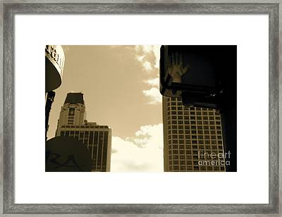 Stop Framed Print by Ashley Ordines