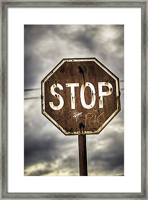 Stop Framed Print by Caitlyn  Grasso