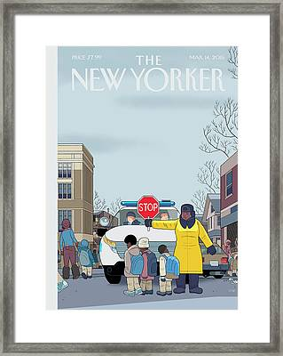 Stop Framed Print by Chris Ware