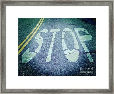 Stop Framed Print by Colin and Linda McKie
