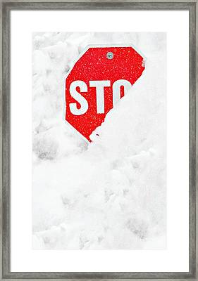 Stop Framed Print by Diana Angstadt