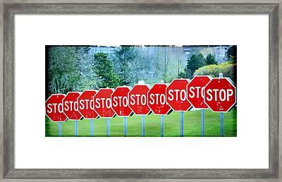 Stop Framed Print by Fraida Gutovich