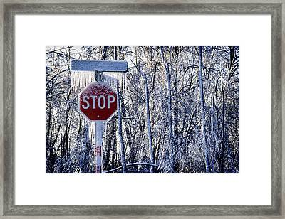 Stop Ice Framed Print by Kelley King