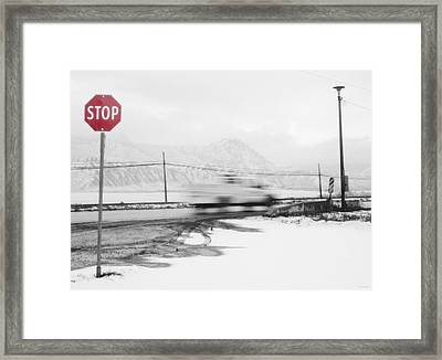 Stop - In The Name Of Love Framed Print by Theresa Tahara