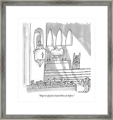 Stop Me If You've Heard This One Before Framed Print by Michael Crawford