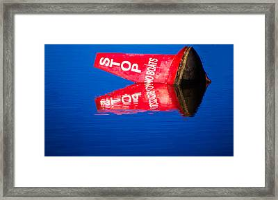 Stop No Boats Framed Print by Naomi Burgess