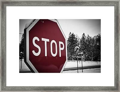 Stop Framed Print by Robert Hellstrom