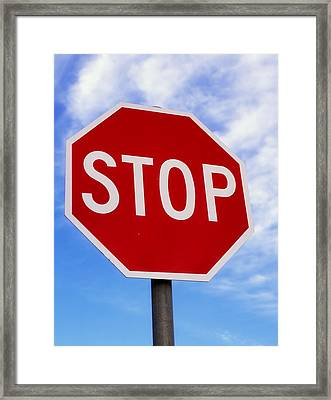 Stop Sign Ireland Framed Print by The Irish Image Collection