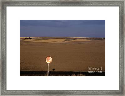 Stop Sign Framed Print by Jim Corwin