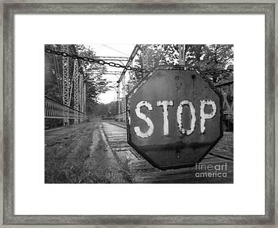 Stop Sign Framed Print