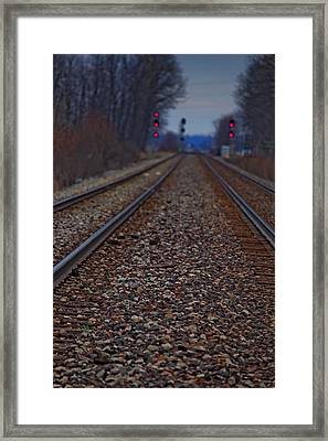 Framed Print featuring the photograph Stop The Train by Rowana Ray