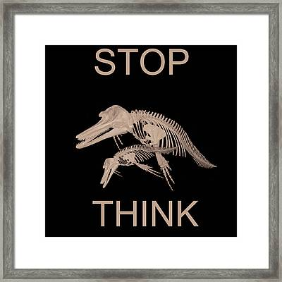 Stop Think Framed Print by Eric Kempson