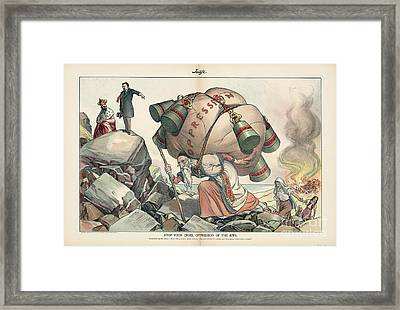 Stop Your Cruel Oppression Of The Jews Framed Print by Celestial Images