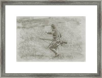 Stopping Pickett's Charge At Gettysburg Framed Print