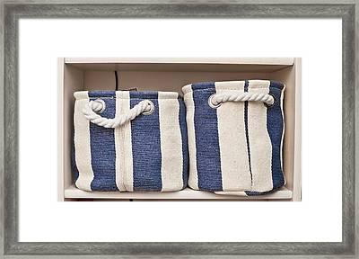 Storage Baskets Framed Print