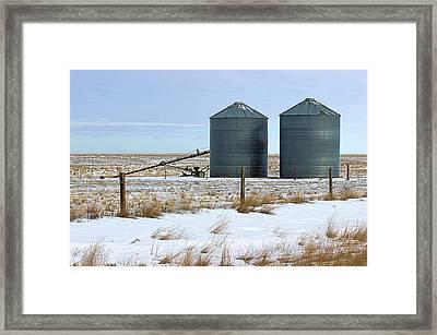Storage Bins On The Prairie Framed Print