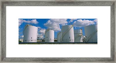 Storage Tanks In A Factory, Miami Framed Print by Panoramic Images