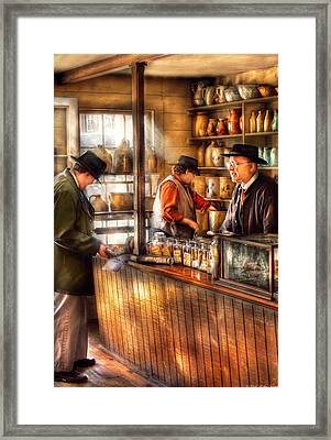 Store - Ah Customers Framed Print by Mike Savad