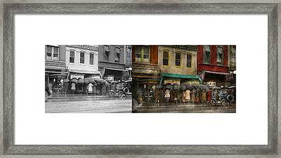 Store - Big Sale Today - 1922 - Side By Side Framed Print by Mike Savad