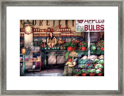 Store - Dreyer's Farm Framed Print by Mike Savad