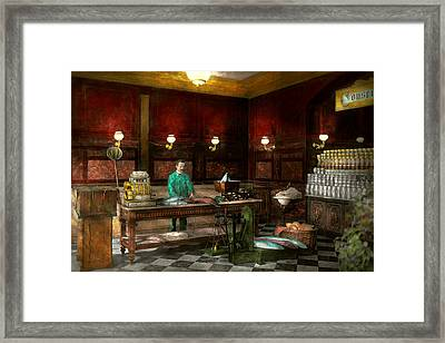 Store - Fish - C Lindenberg Hollieferont Fish Store Berlin Germany 1895 Framed Print by Mike Savad