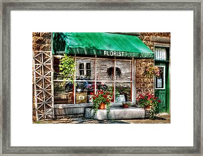 Store - Florist Framed Print by Mike Savad