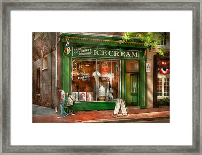Store Front - Alexandria Va - The Creamery Framed Print by Mike Savad