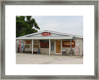 Store Front Of Days Past Framed Print by Terry Scrivner