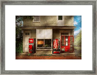 Store Front - Waterford Va - Waterford Market  Framed Print by Mike Savad