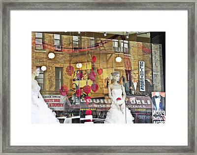 Store Front Wedding Framed Print by Sarah Loft