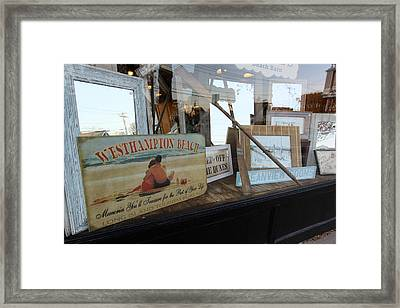 Store Front Westhampton New York Framed Print