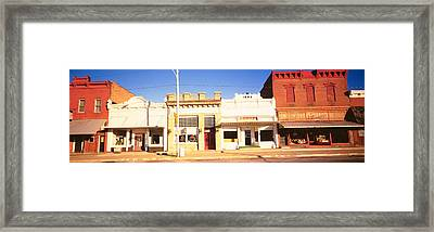 Store Fronts, Main Street, Small Town Framed Print