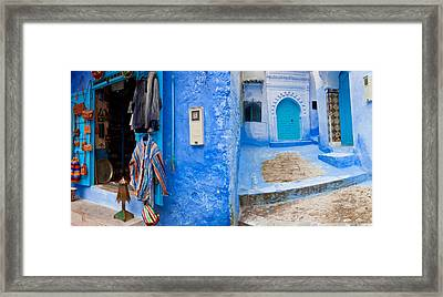 Store In A Street, Chefchaouen, Morocco Framed Print