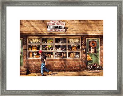 Store -  The Thrift Shop Framed Print by Mike Savad