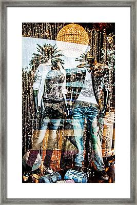 Store Window Display Framed Print by Rudy Umans