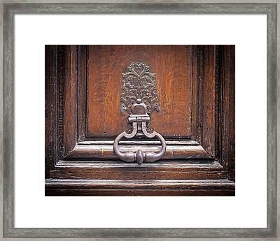 Storied - Door In Paris France Framed Print by Melanie Alexandra Price