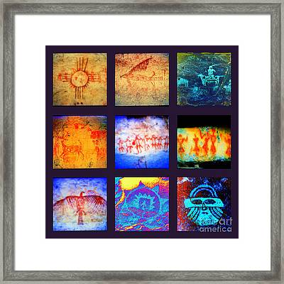 Stories On Stone Framed Print by Joe Jake Pratt