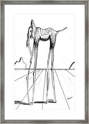 Stork Legs Framed Print by Dan Twyman