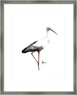 Stork Watercolor Art Print Painting Birds Ideas Large Poster For Sale Framed Print