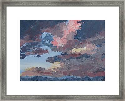 Storm A Brewin Framed Print by Janis Mock-Jones