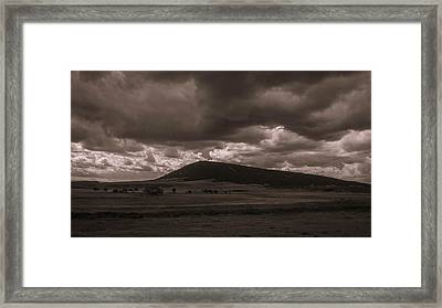 Storm A Comin' Framed Print