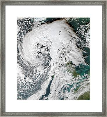 Storm Abigail Framed Print by University Of Dundee