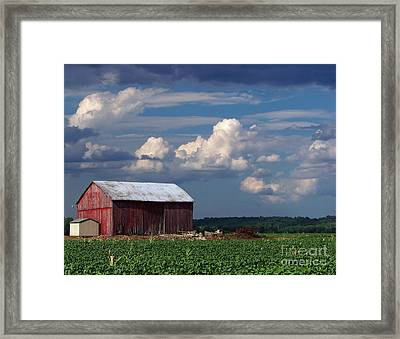 Framed Print featuring the photograph Storm Above by Gena Weiser
