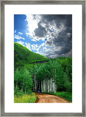 Storm Above Pennock Pass Colorado Framed Print by Ric Soulen