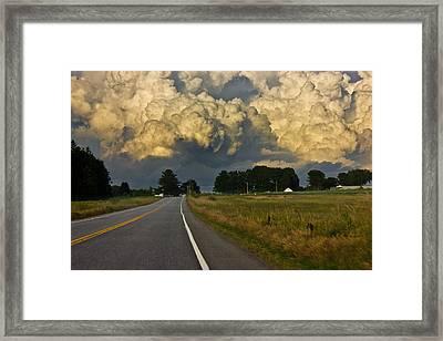 Storm Ahead Framed Print by Benjamin Williamson
