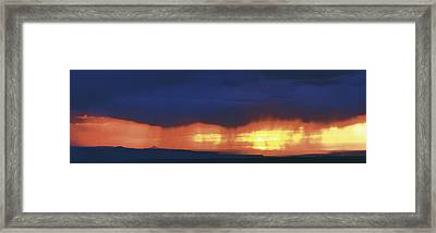 Storm Along The High Road To Taos Santa Framed Print by Panoramic Images